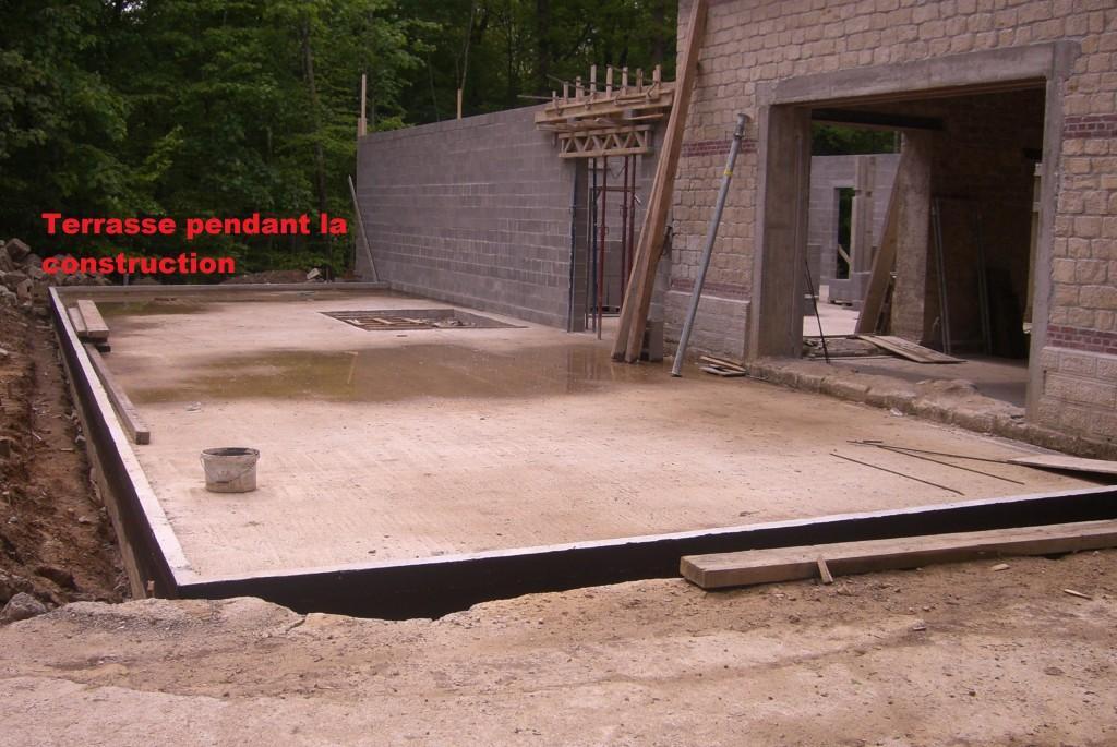 Terrasse pendant la construction